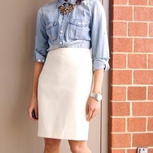 J. Crew | Cream No. 2 Pencil Skirt